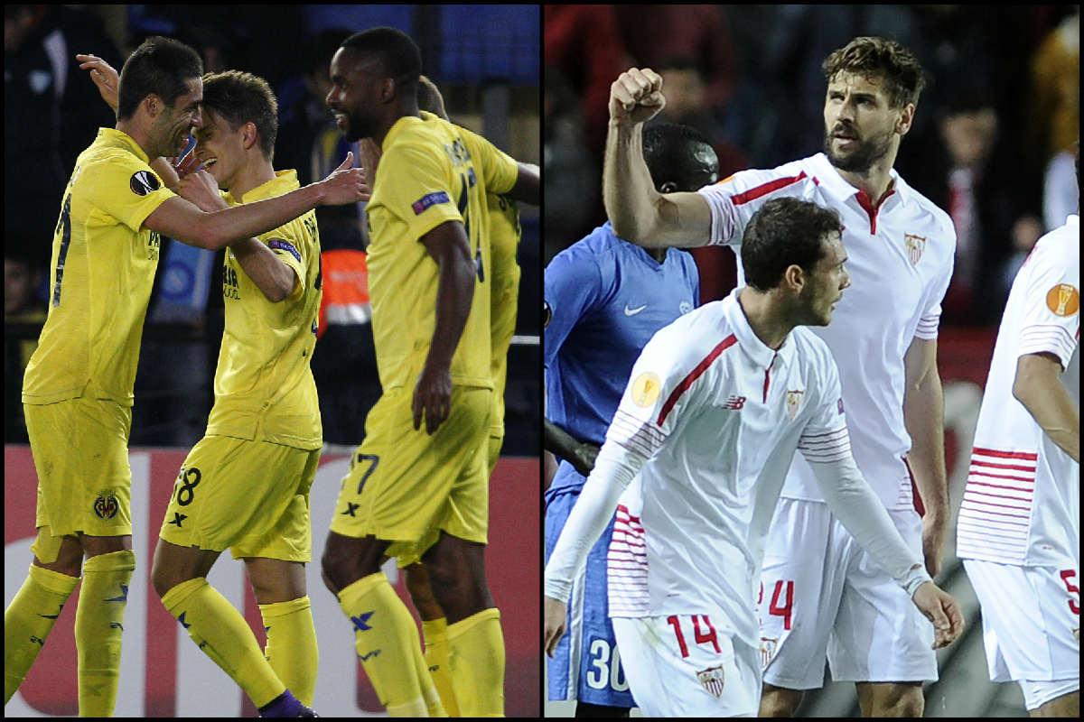 Buenos resultados para Sevilla y Villarreal. (Fotos: AFP)