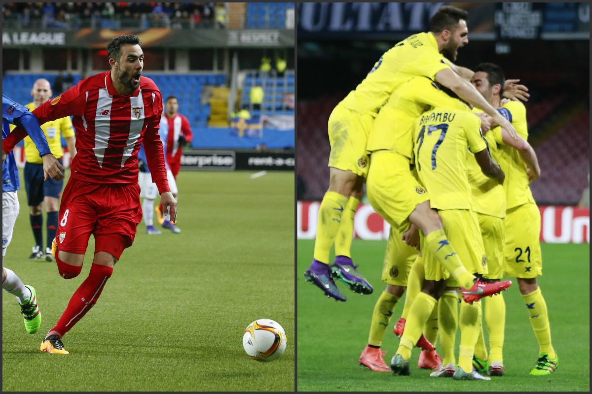 Sevilla y Villarreal acompañan a Valencia y Athletic en octavos. (Fotos: AFP)