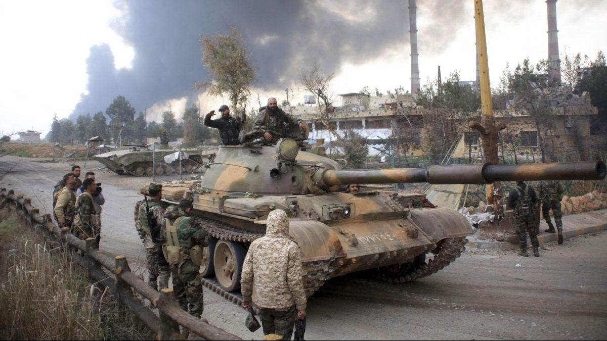 El ejército gubernamental sirio. (Foto: AFP)