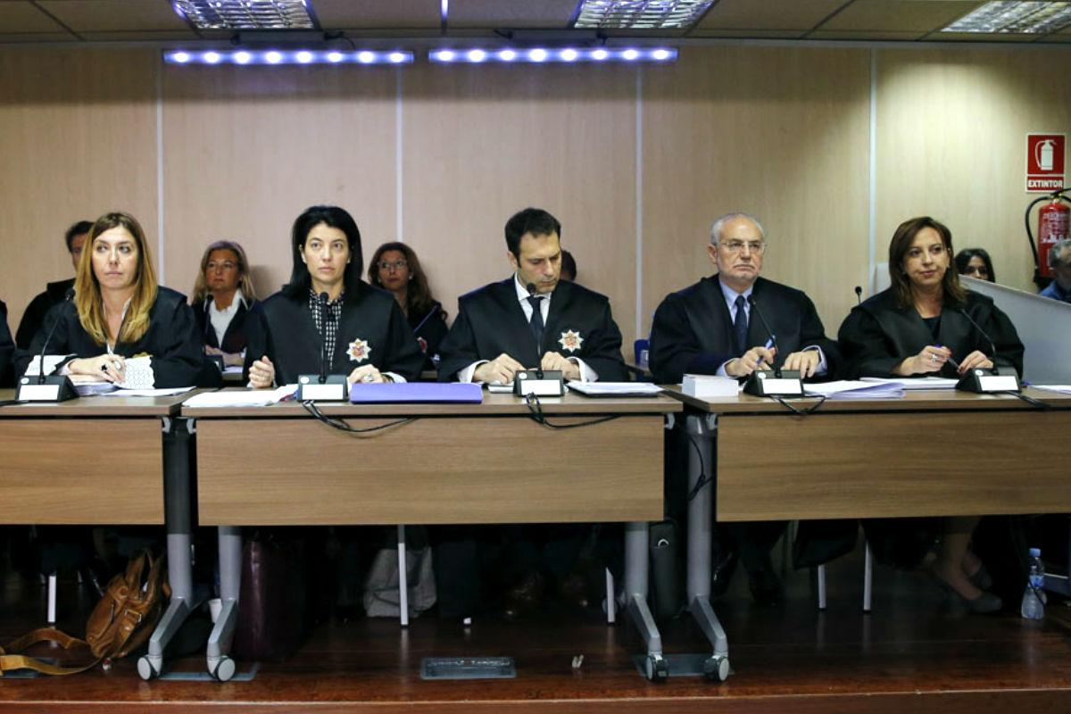 El tribunal del caso Urdangarin (Foto: Efe).