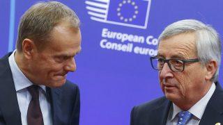 Los presidentes del Consejo, Donald Tusk, y de la Comisión, Jean-Claude Juncker. (Reuters)