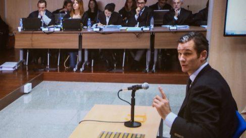 Iñaki Urdangarin, esta mañana durante su declaración como acusado