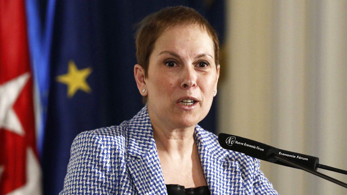 La presidenta del Gobierno foral de Navarra, Uxue Barkos. (Foto: EFE)