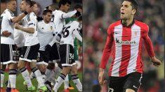 Valencia y Athletic estarán en octavos de la Europa League. (Fotos: AFP)