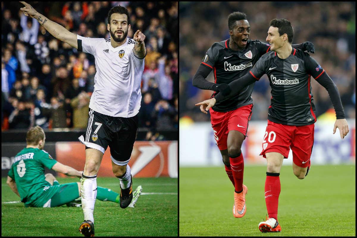 Buenos resultados de Valencia y Athletic en la Europa League.
