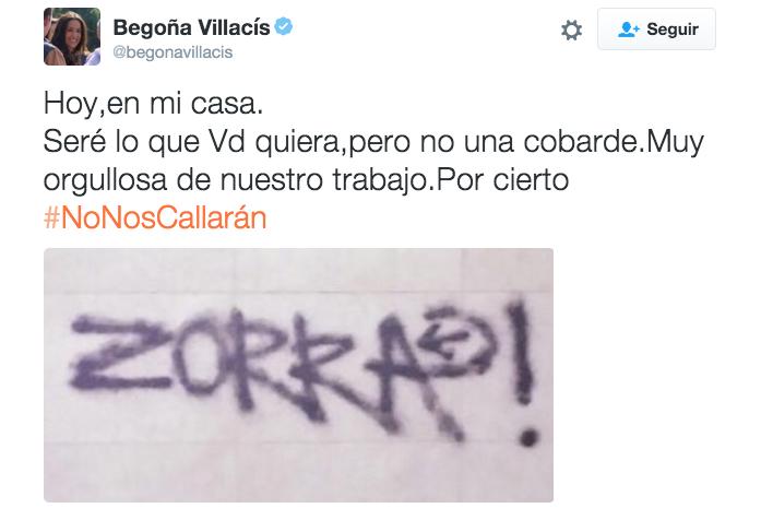 El tuit de Begoña Villacís, portavoz de Ciudadanos en el Ayuntamiento de Madrid.