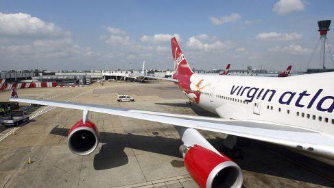 Avión de Virgin Atlantic en Heathrow. (Foto: Getty)