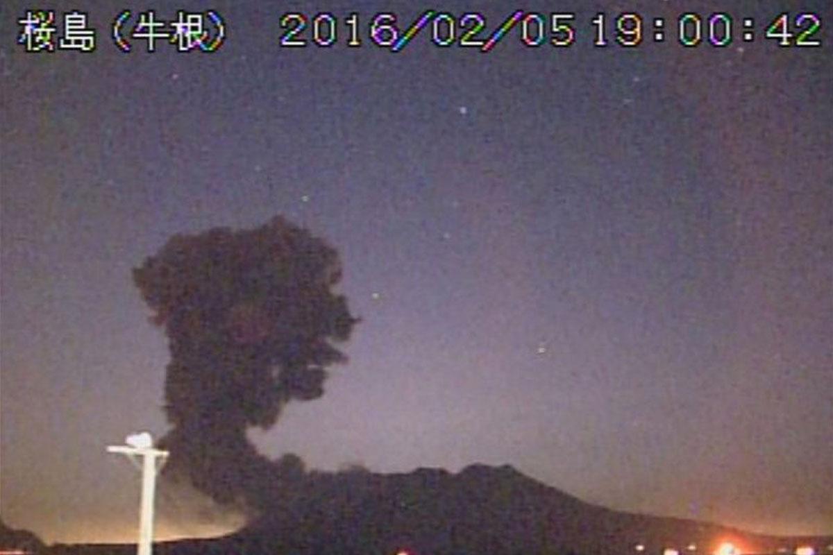 El volcán Sakurajima entra en erupción. (Foto: AMJ)