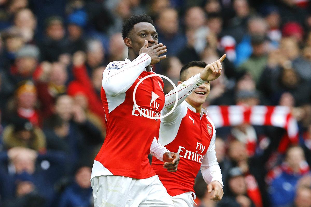 Danny Welbeck anotó el segundo gol del Arsenal. (Reuters)