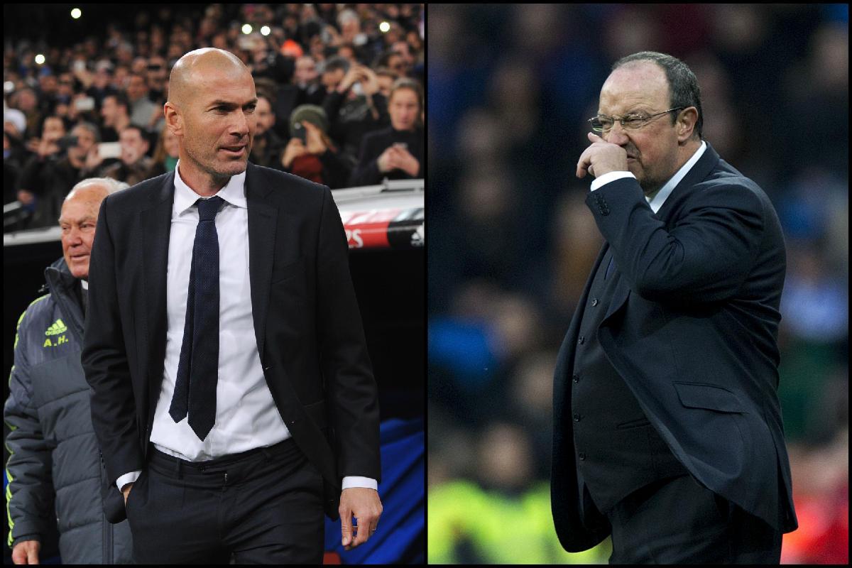 Zinedine Zidane mejora a Rafa Benítez. (Fotos: Getty)