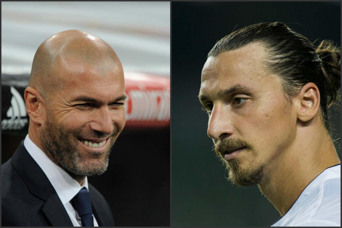 Zidane e Ibrahimovic se admiran mutuamente.