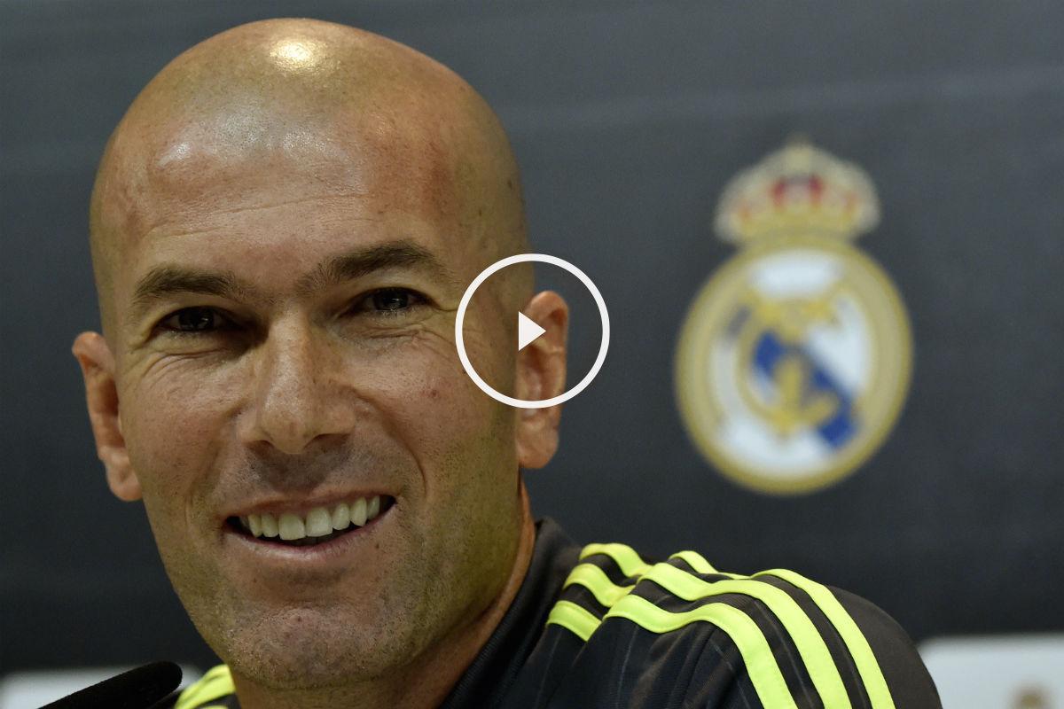Zidane atendió a los medios en rueda de prensa. (AFP)