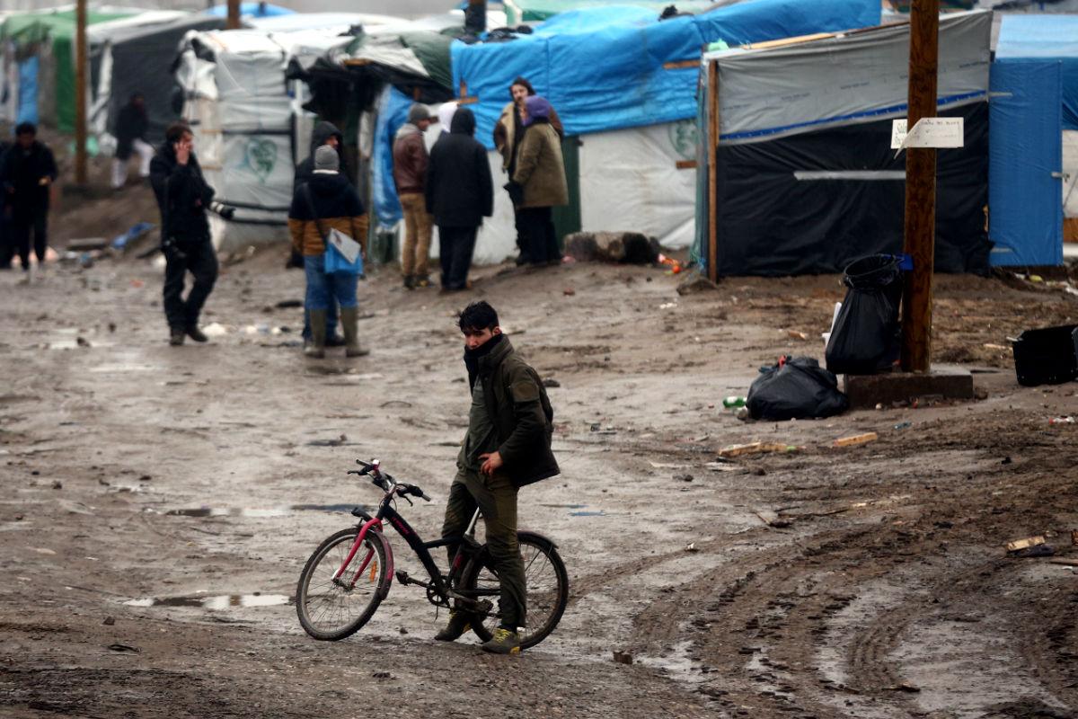 Una imagen del campamento de Calais. (Getty)