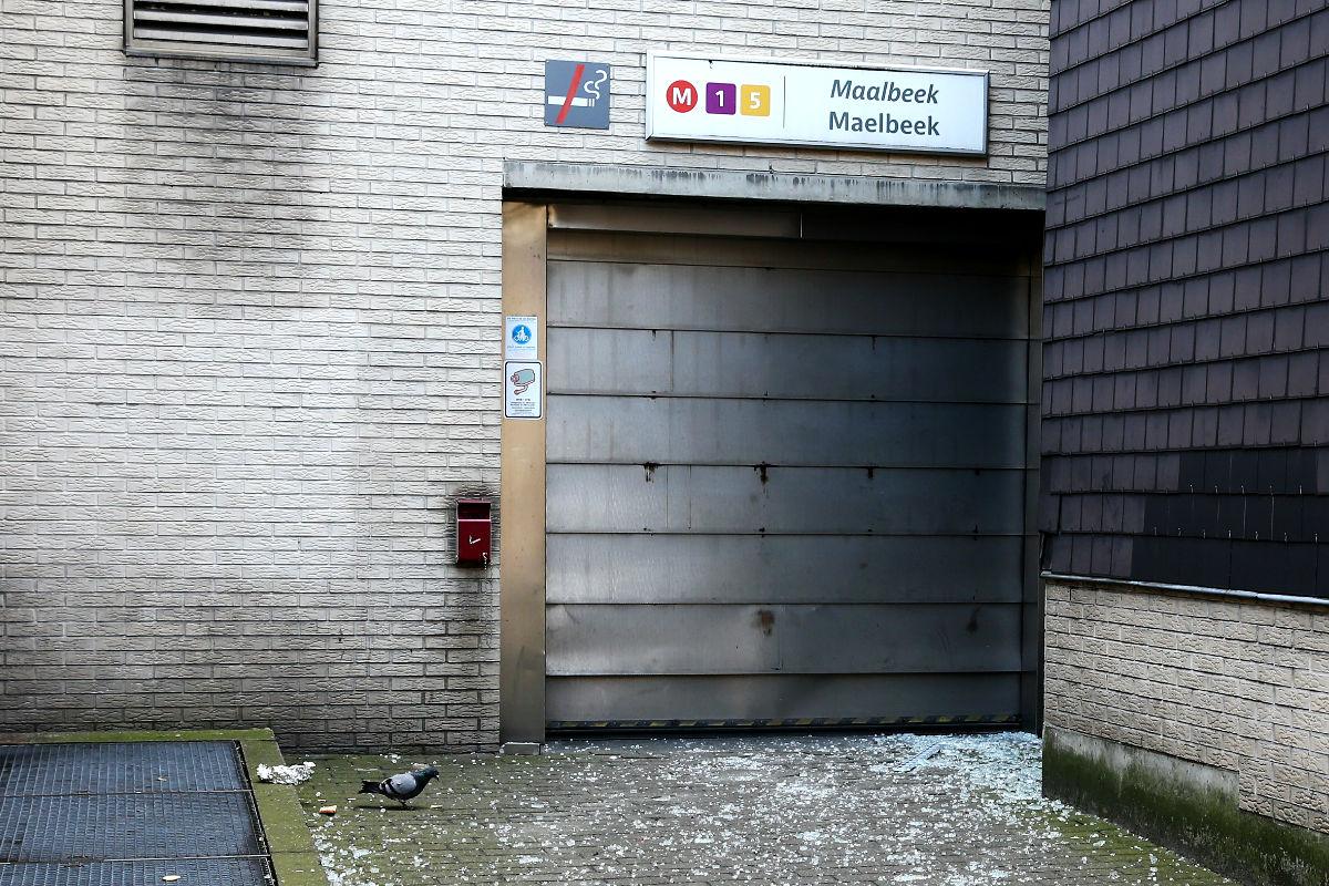 Imagen de la boca del metro de Bruselas donde se han producido los atentados. (Getty)