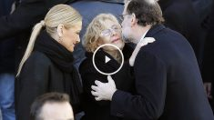 Cristina Cifuentes, Manuela Carmena y Mariano Rajoy en el 12 aniversario del 11M (Foto:EFE)