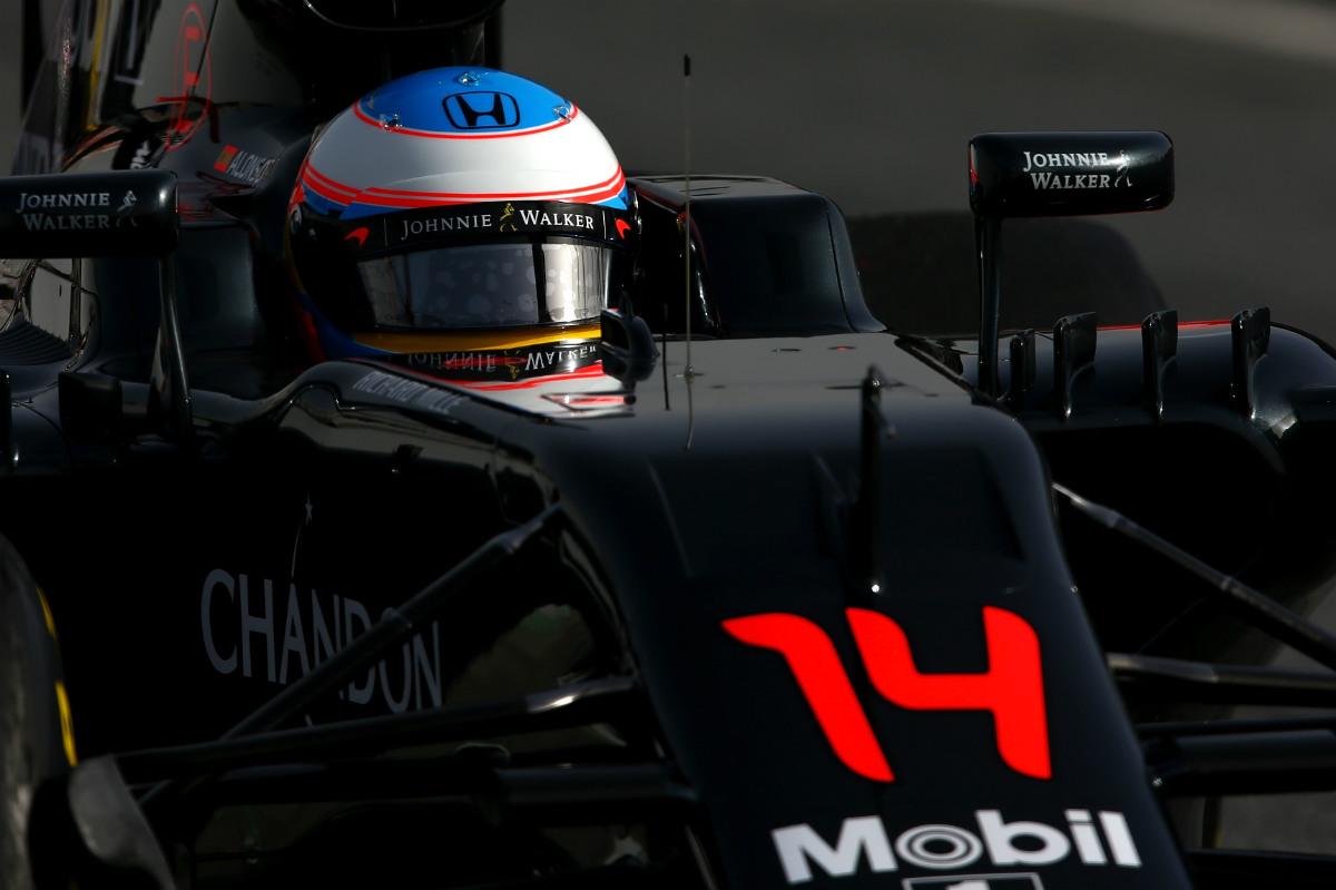 Fernando Alonso apretó el acelerador a su coche. (Getty)
