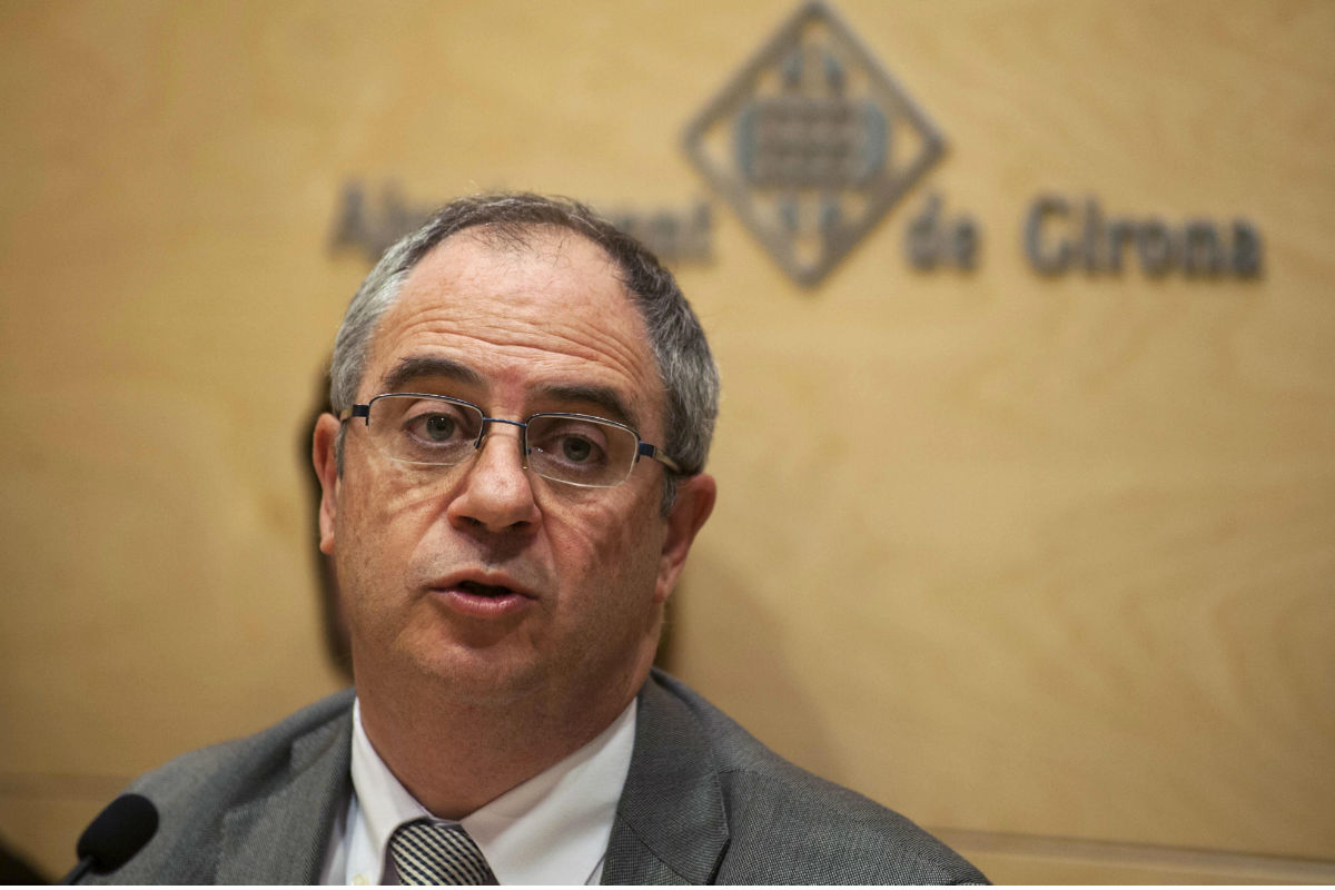Albert Ballesta, ex alcalde de Girona y sustituto de Puigdemont. (Foto: EFE)