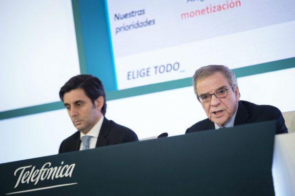 César Alierta junto a José María Álvarez-Pallete (Foto: EFE)