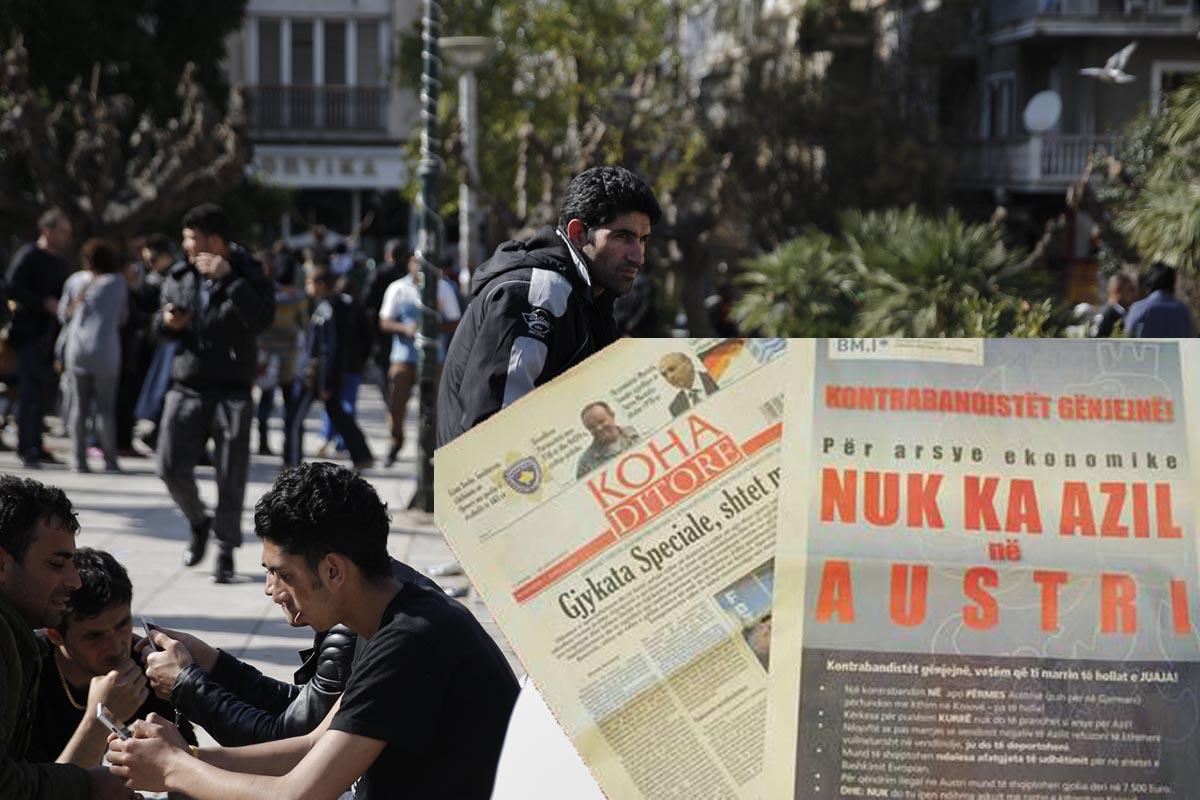 Inmigrantes afganos y la campaña financiada por Austria (Foto: Reuters)