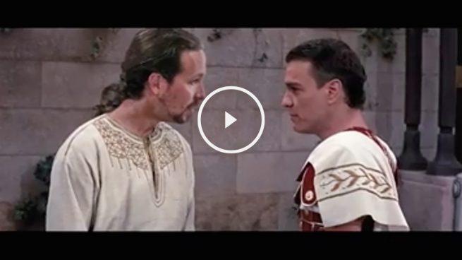 Un vídeo parodia la relación entre Pablo Iglesias y Pedro Sánchez a lo Ben Hur y Messala