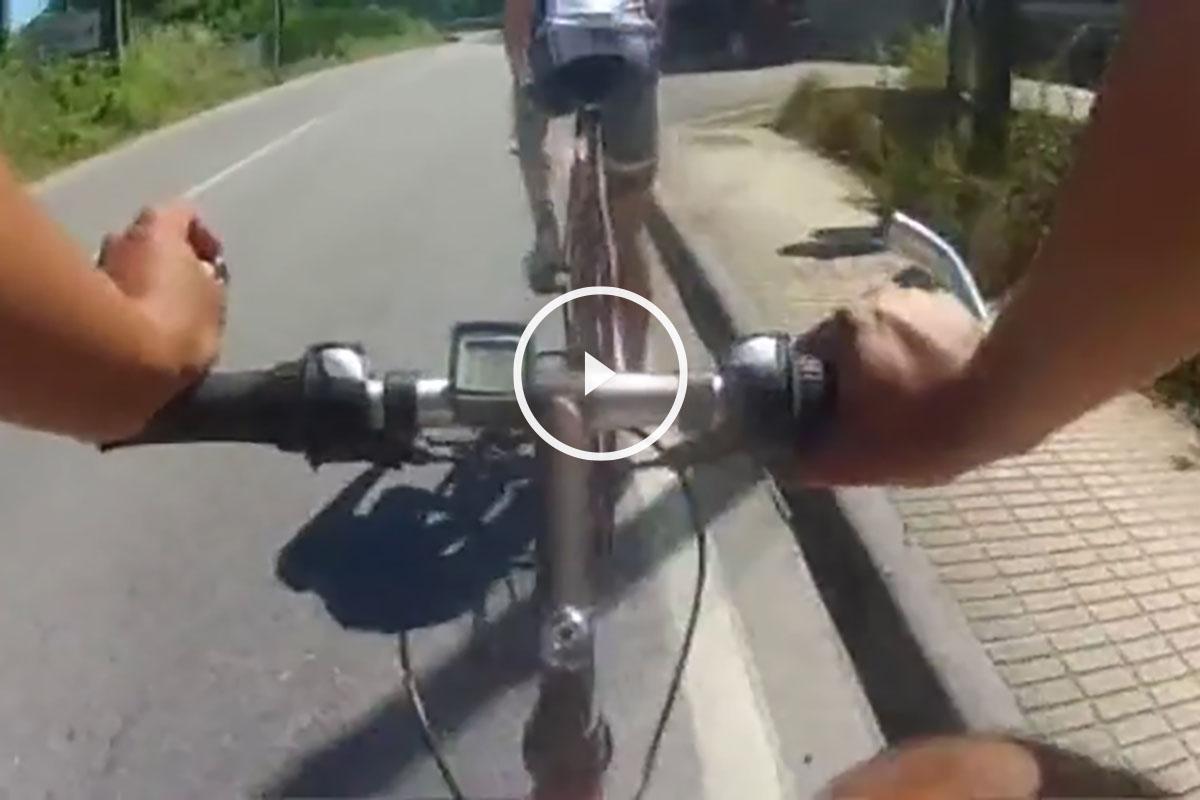 Bicicleta con cámara.