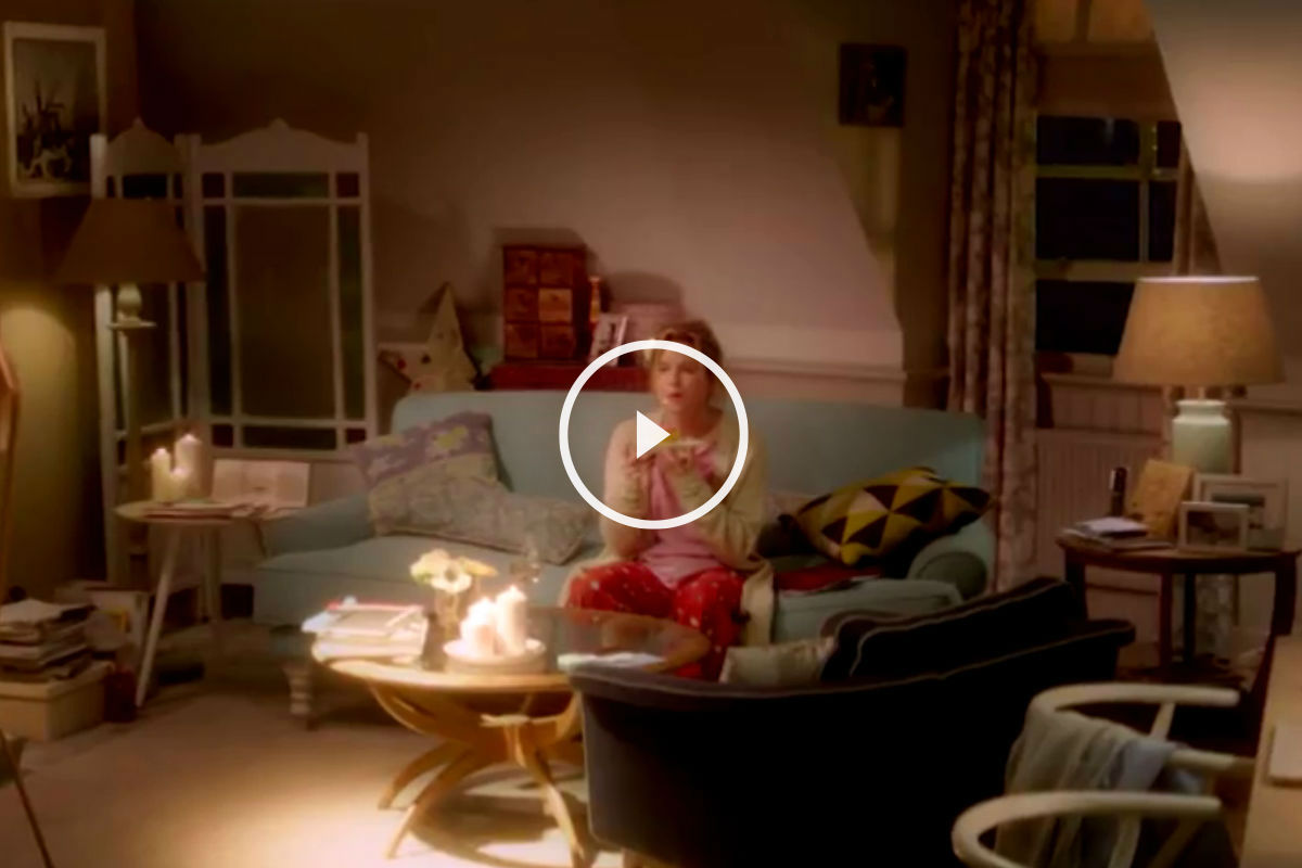 Escena de la película El bebé de Bridget Jones.