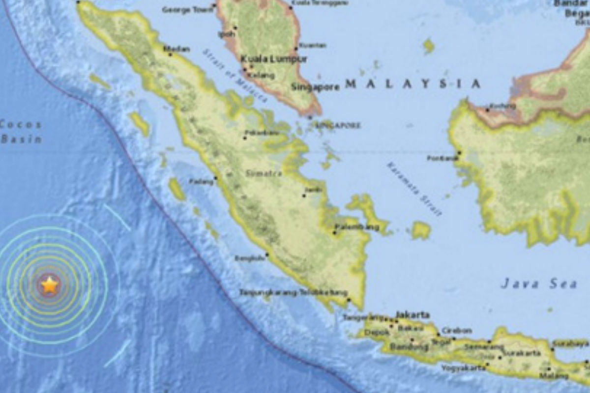 Imagen del lugar donde se ha producido el terremoto. (Efe)