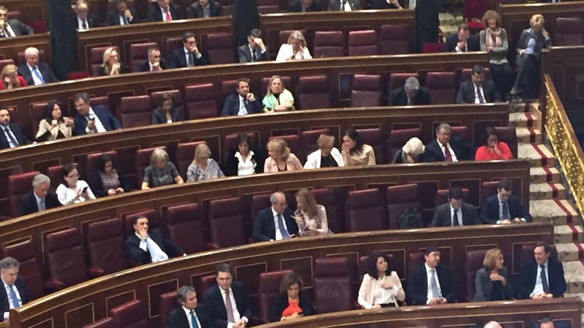 Bancada popular en el Congreso. (Foto: Nuria Val)