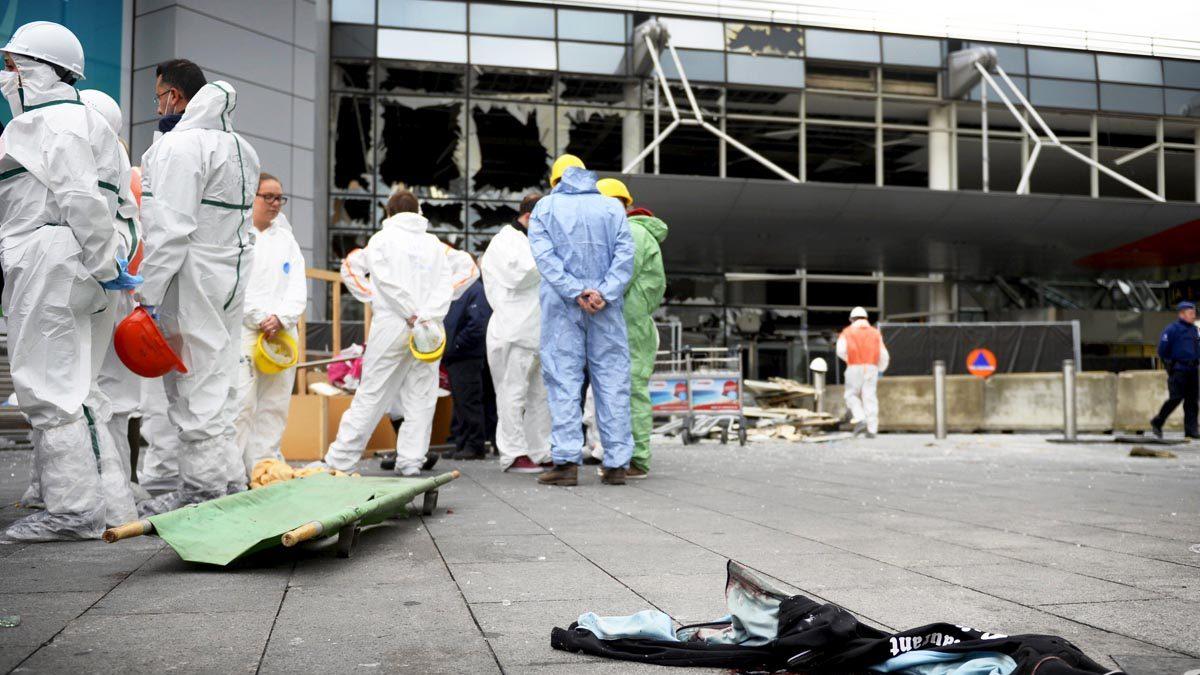 Aeropuerto de Bruselas tras los atentados. (Foto: Reuters)