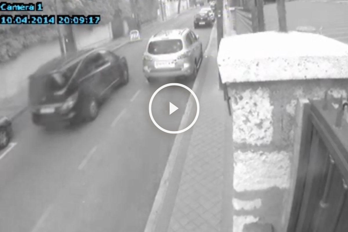 Imágenes de una cámara de seguridad que muestran el coche de Elisa Pinto.