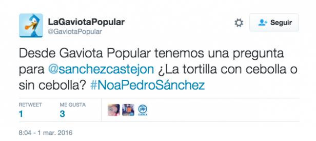 Tuit metafora gastronomía Pedro Sanchez