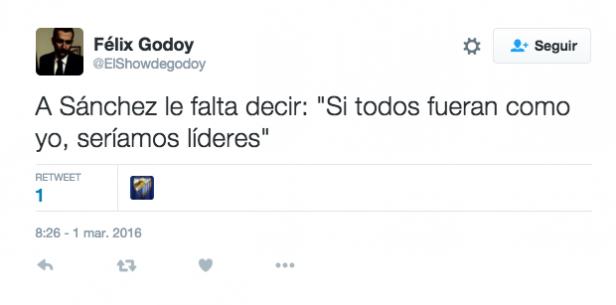 tuit debate investidura cristiano ronaldo