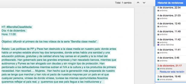 Fragmento de un documento 'online' en 'Guerrilla'.