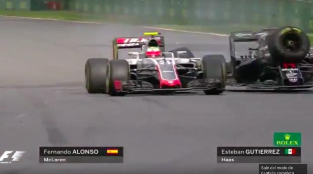 Alonso chocó con Gutiérrez al intentar el adelantamiento.