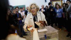 La alcaldesa Manuela Carmena en las elecciones municipales. (Foto: GETTY)