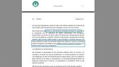 Carta Ética de la formación de Rita Maestre, Ahora Madrid