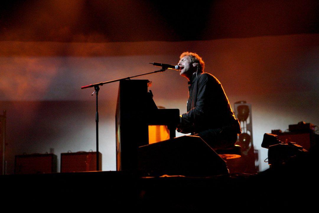 Coldplay en el Festival de Glastonbury 2005 (Getty)