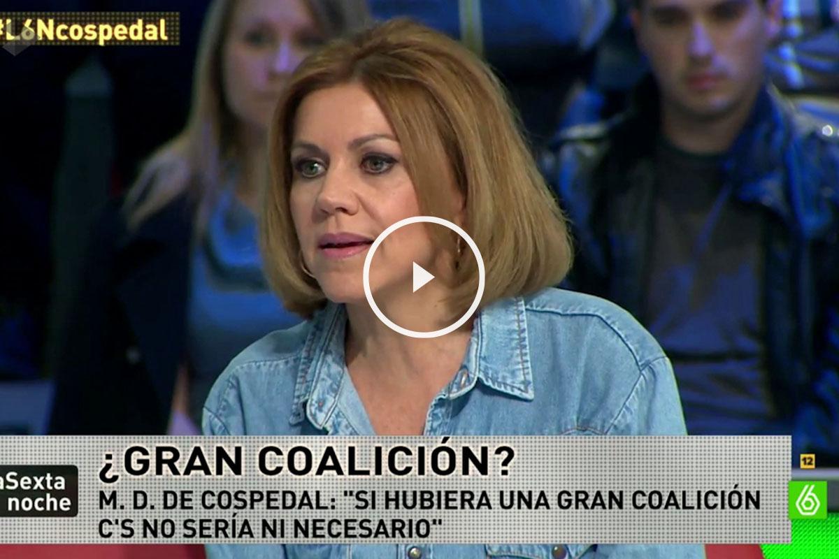María Dolores de Cospedal, en La Sexta Noche