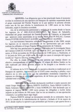 La cajera de Rita Barberá aportó al PP municipal 38.000 euros en billetes