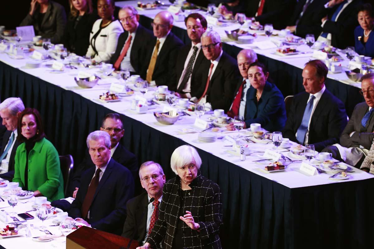 La presidenta de la Reserva Federal se dirige a la élite económica de EE UU (Foto: Reuters)