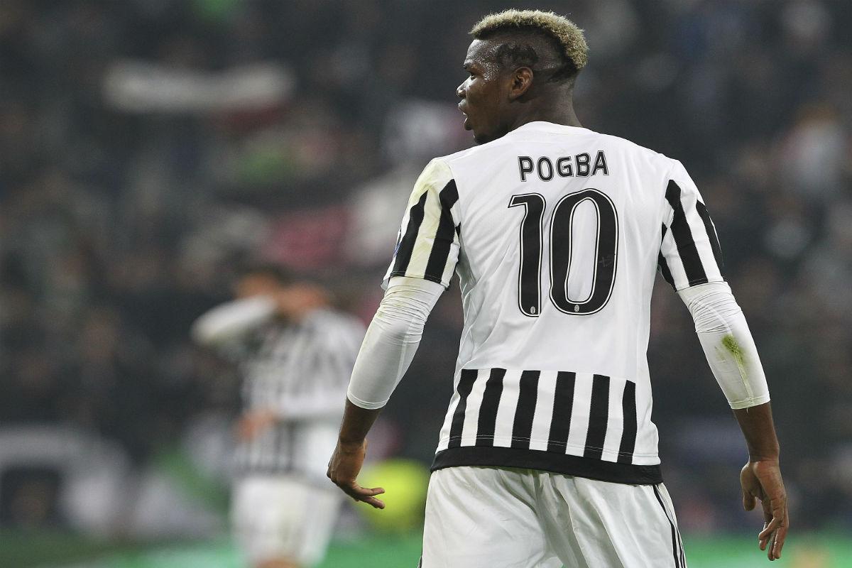 Paul Pogba durante un partido con la Juventus