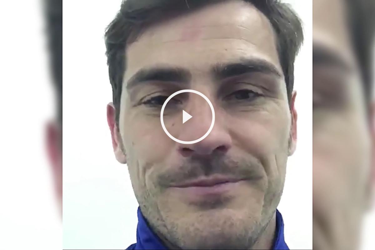Iker Casillas, en su cuenta de Facebook.