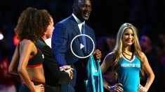 Michael Jordan acudió al All Star de la NBA, pero apenas participó en eventos de relevancia más allá de la presentación de su ciudad como sede del All-Star 2017. (Getty)