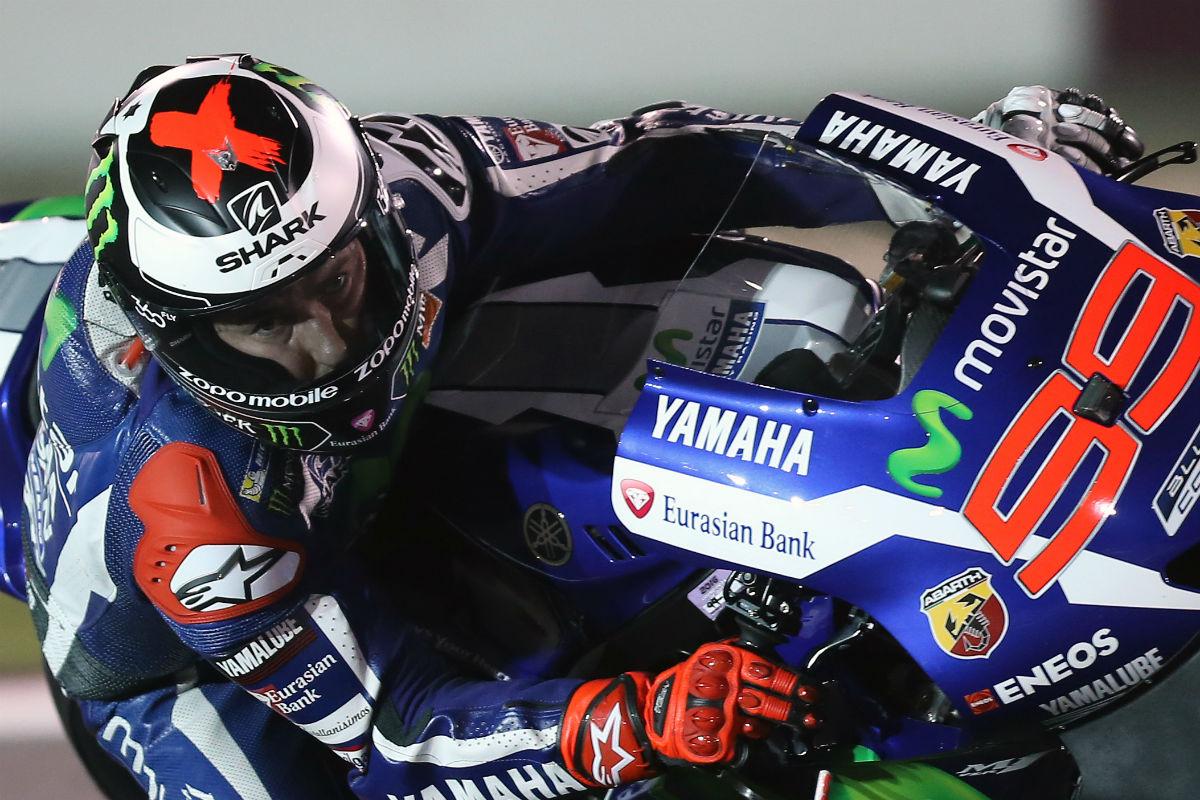 Lorenzo se mostró intratable en la primera prueba de MotoGP. (AFP)