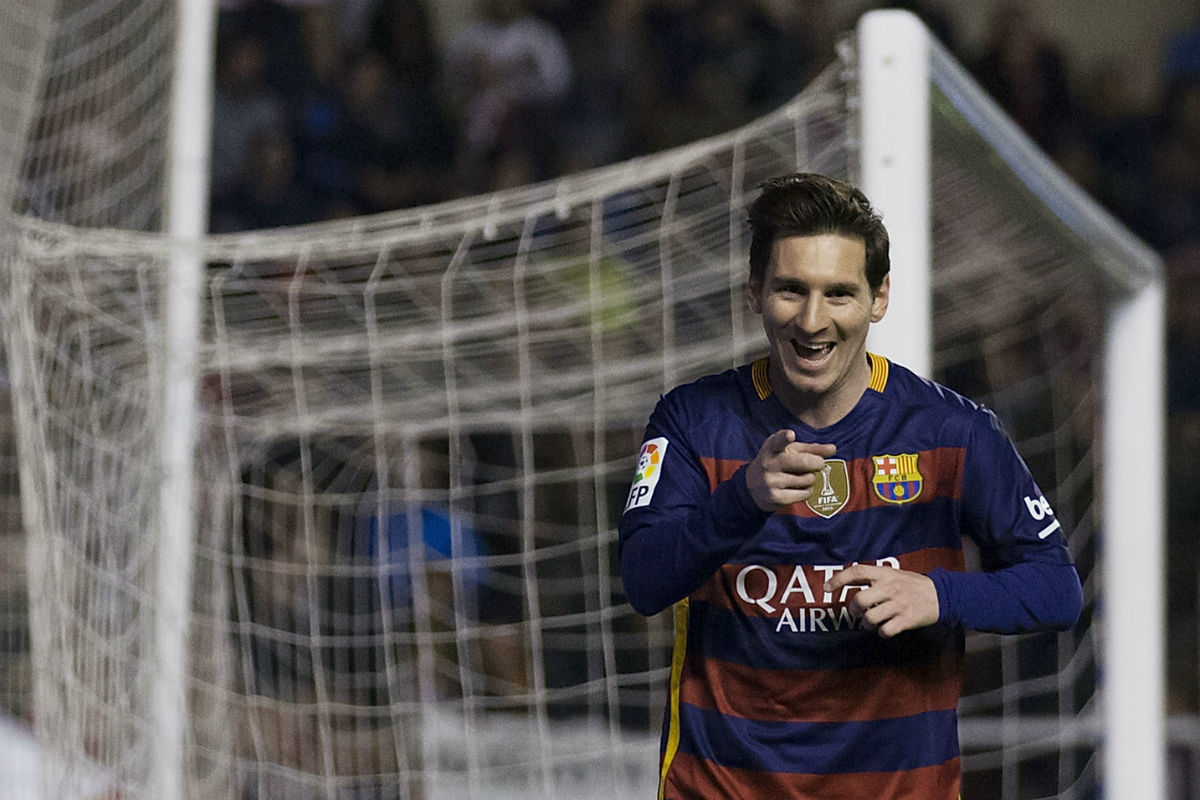 Messi vive su mejor momento de la temporada tras conseguir tres tantos en Vallecas. (Getty)