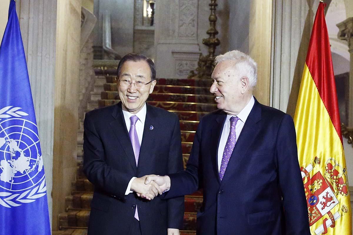 Ban Ki-moon y García-Margallo en el Palacio de Viana (Foto: EFE)