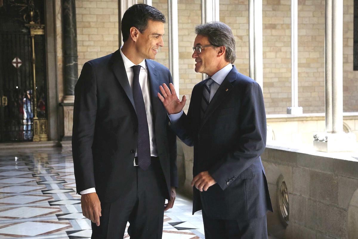 Pedro Sánchez y Artur Mas. (Fuente: Generalitat)