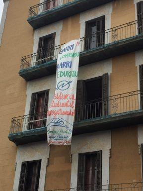 Edificio okupado en el Barrio de El Raval
