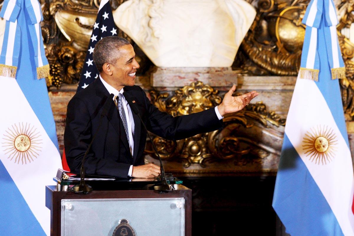 Barack Obama en Buenos Aires (Foto: Reuters)