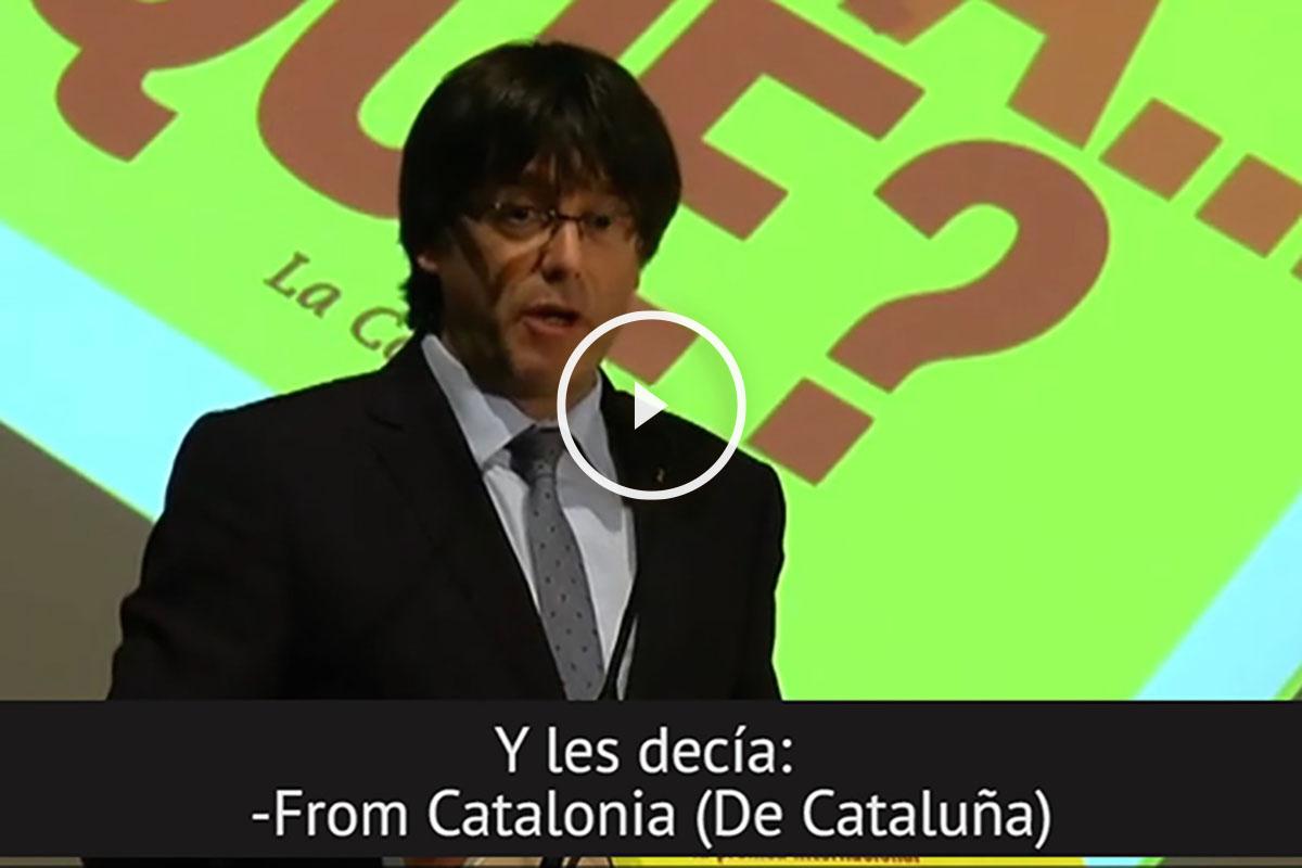 Carles Puigdemont, en la presentación de su libro 'Cata..Qué?'.